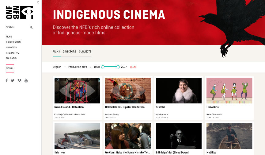 The National Film Board of Canada Launches Indigenous Cinema